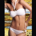 Swimwear: Bikini white band