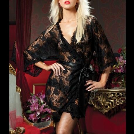 Kimono in Black Lace