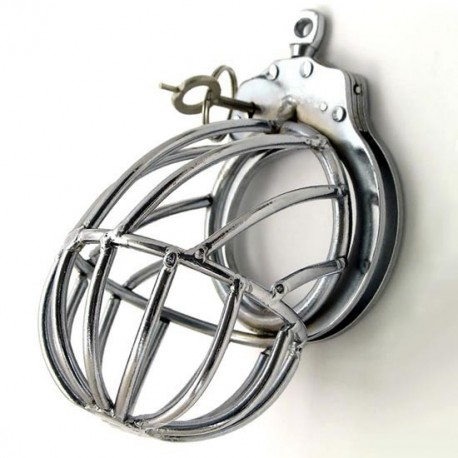 The Black Star Chastity Cage - encloses testicles
