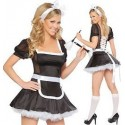 French maid costume - laces in the back
