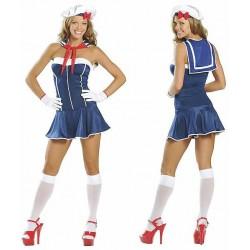 Costume sailor bustier, Navy wife matelote!