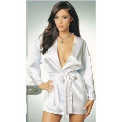 Kimono - Bathrobe satin white, pink or black