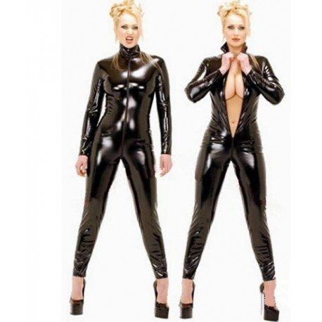CatSuit combination leather zipped to