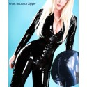 Catsuit combination LaTeX zipped with corset
