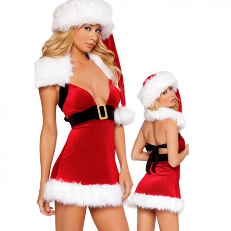 Baby doll of mother Christmas: back bare & décolleté