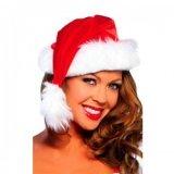 Santa Hat: Red & white fur