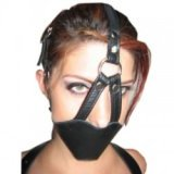 Bondage leather, gag-ball muzzle