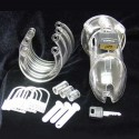 CB6000 Polycarbonate Chastity Cage + padlock for testicle ring