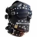 Full Face SciFi Leather Bondage Hood