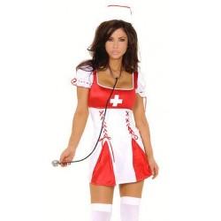 Nurse with fairing draping dress