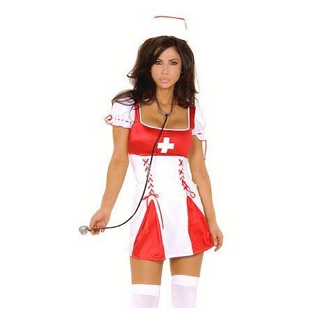 Nurse with fairing draping dress
