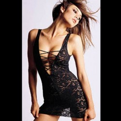 Black Baby Doll lace, lacing