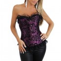 Sexy corset: Purple and black floral