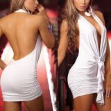 White actor dress studio - extra bare back