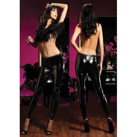 Leggings tight latex gloss & grinding style