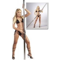 Removable chrome pole dancing pole - no screws required!