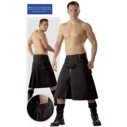 Skirt for man - Kilt black - Bondage