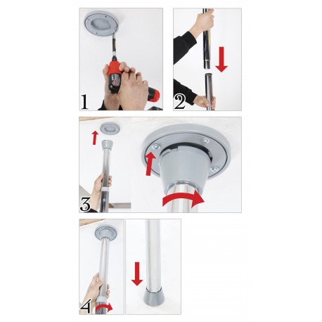 Pole Dancing Pole Kit: Pro with Screws, Removable