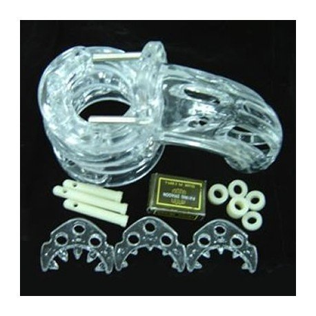 The Curve Chastity Cage - transparent with several ring sizes