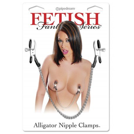 Alligator clip for nipples with chain