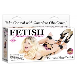 Extreme Hog-Tie Kit: 4 Velcro handcuffs BDSM