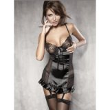 Chemise: Black Satin - tendentious