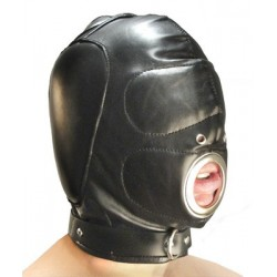 BDSM total mask - Mouth sucking