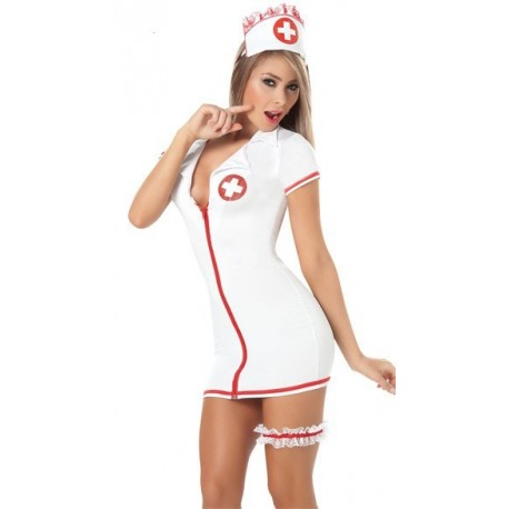 Costume : Robe d'infirmière ultra moulante & sexy