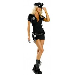 Costume : Figure-hugging sexy police officer dress