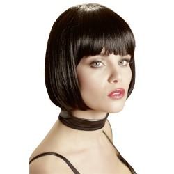 Sexy wig: black fringe square - dominatrix