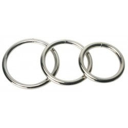 Set of 3 plain metal cockrings