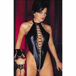 Body queen vinyl wetlook - thong & bare back