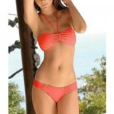 Swimwear: Bikini orange with plate