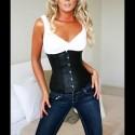 Black corset front fastening