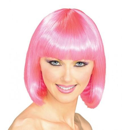 Wig: pink bob cut