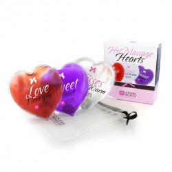 LoversPremium - 3 Heated massage hearts