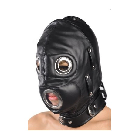 Full Face BDSM Hood for sucking