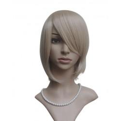 Sexy wig: blonde fringe knee cutting