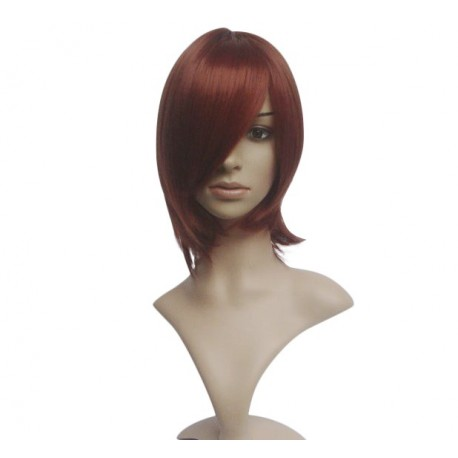 Sexy wig: Cup knee Brown with fringe