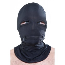 Full spandex hood - eyes & mouth zippers