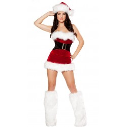 Full sexy Mother Christmas dress and corset