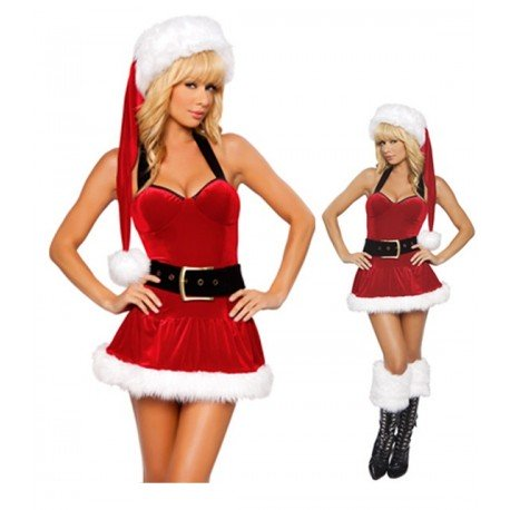 Low-cut dress - Where are you Mrs Santa Claus?