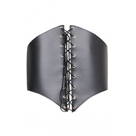 SM corset in black silicone