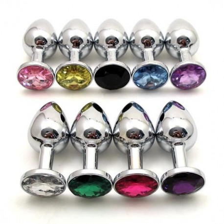 Intimate jewellery - Anal Plug: 8 colours / 2 sizes available