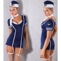 Sexy flight attendant air hostess