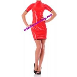 Red tight fitting dress 100% Latex 0.45mm
