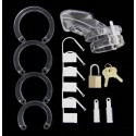 CB-6000 Polycarbonate Chastity Cage with travel bag