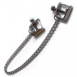 Chain with clamps for nipple screw