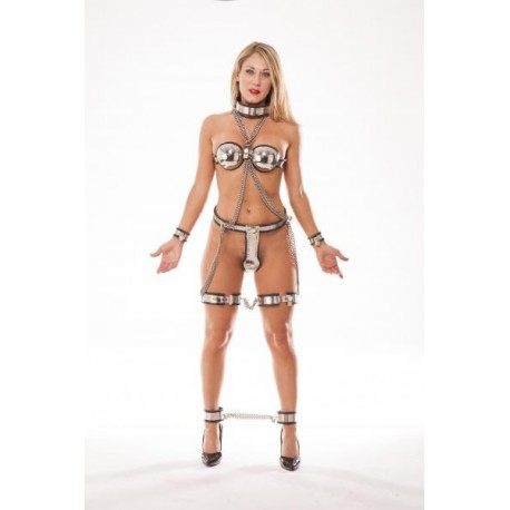 Ultimate Chastity - 7 piece set with Chastity belt