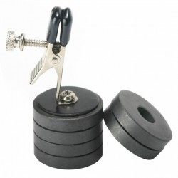 Nipple clamp - magnetic weight